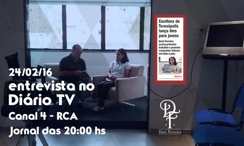Escritora Dani Ferreira No Diário TV Teresópolis