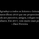 Vídeo 2016 Escritora Dani Ferreira