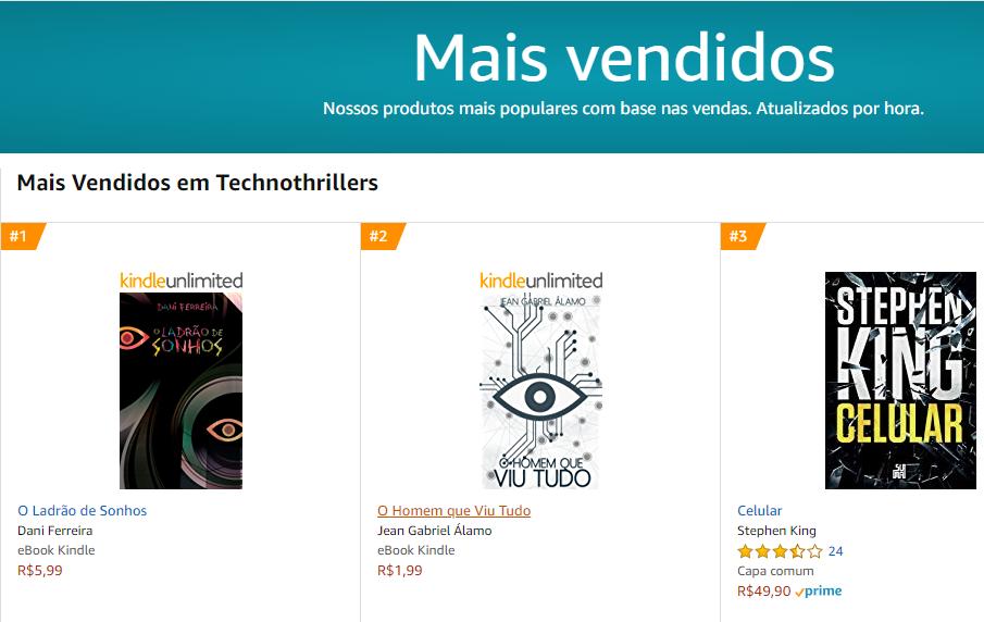 O Ladrão de Sonhos Prêmio Kindle de Literatura - Dani Ferreira